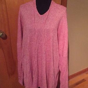 Bombom soft NWOT rose tone hooded sweater